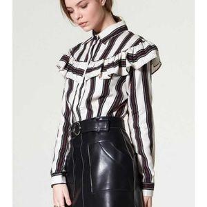 NWT!!! Storets ruffle blouse sz.S